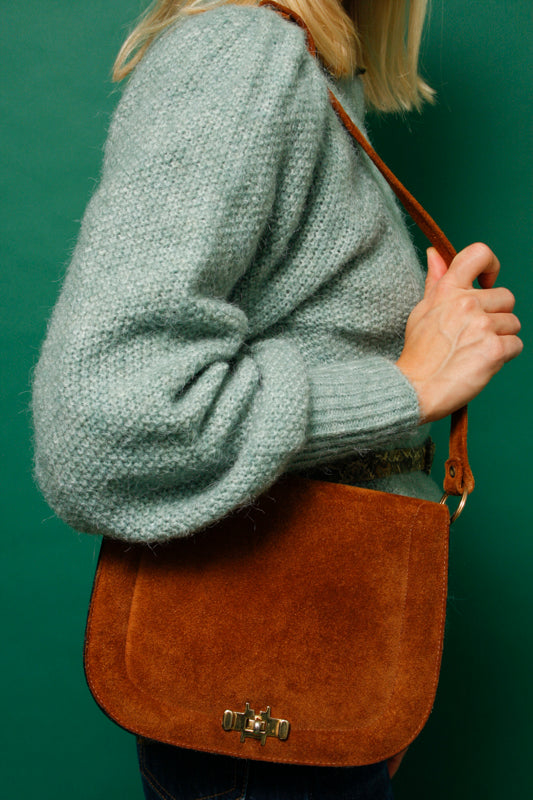 VINTAGE SUEDE SHOULDER BAG