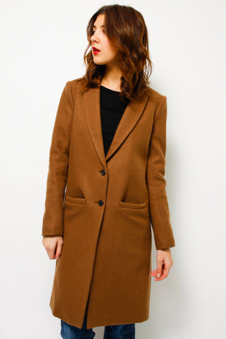 EMERSON FRY WOOL CAMEL COAT