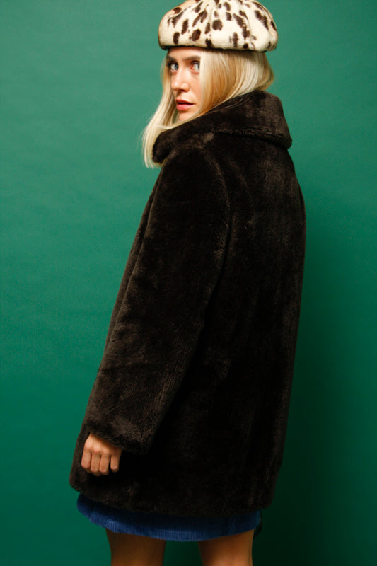 VINTAGE FAUX FUR 60'S COAT
