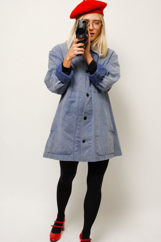 VINTAGE FRENCH REWORKED CHORE JACKET