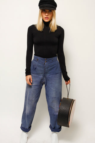 VINTAGE FRENCH REWORKED WORKWEAR PANT