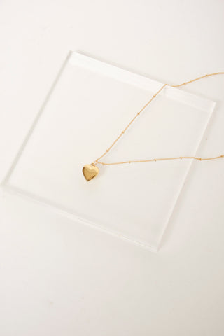 BARE & GOLDEN HEART SHAPED LOCKET