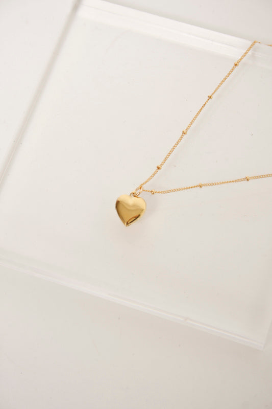 BARE & GOLDEN HEART SHAPED LOCKET - Cloak and Dagger NYC