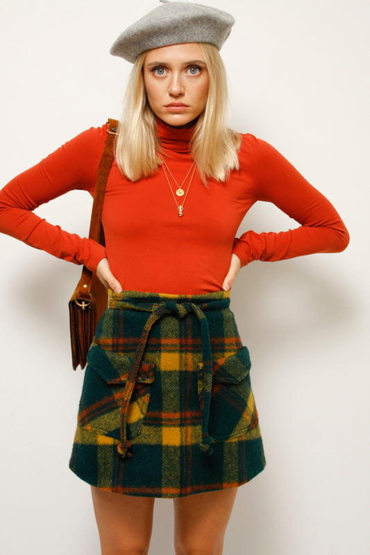 CLOAK & DAGGER BIRKIN PLAID MINI SKIRT