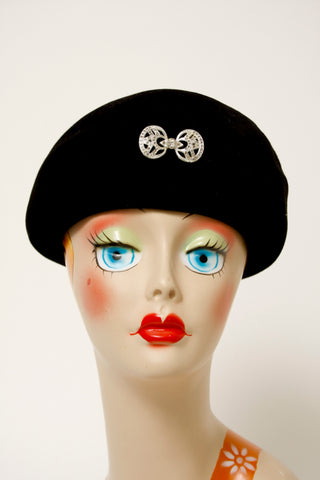 VINTAGE FRENCH FELTED BERET