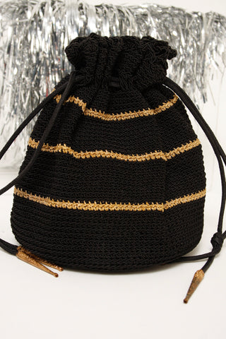 VINTAGE 1950'S KNIT EVENING BAG
