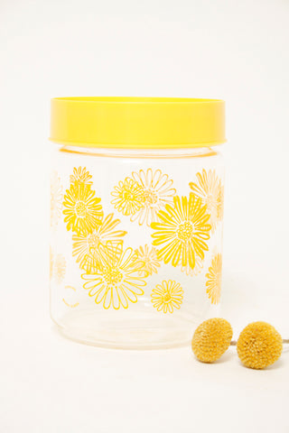 VINTAGE YELLOW DAISY CANISTER