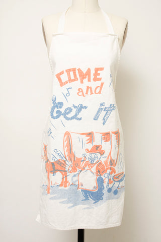 VINTAGE COME AND GET IT APRON