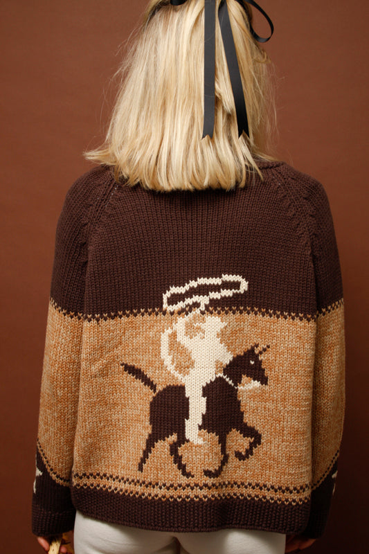 THE GREAT. COWGIRL CARDIGAN