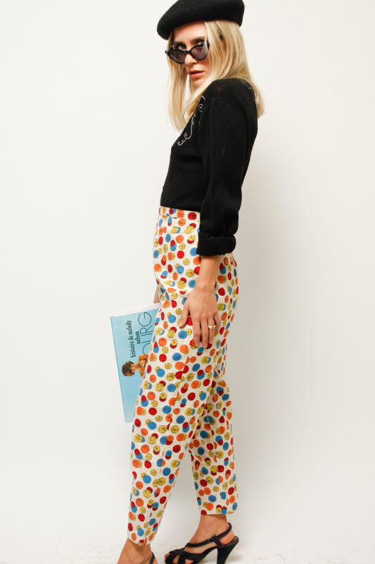VINTAGE 60'S NOVELTY COIN PRINT PANT