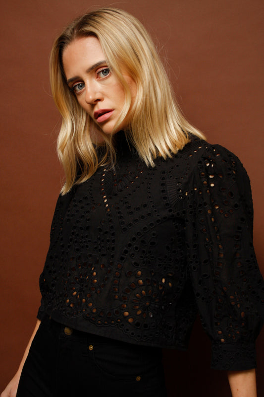 ROLLAS STEPHANIE LACE BLOUSE