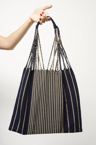 THE MARKET TOTE, NAVY