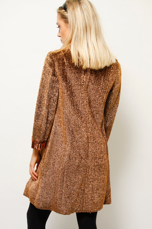 VINTAGE 60'S CLEOPATRA METALLIC MINI DRESS