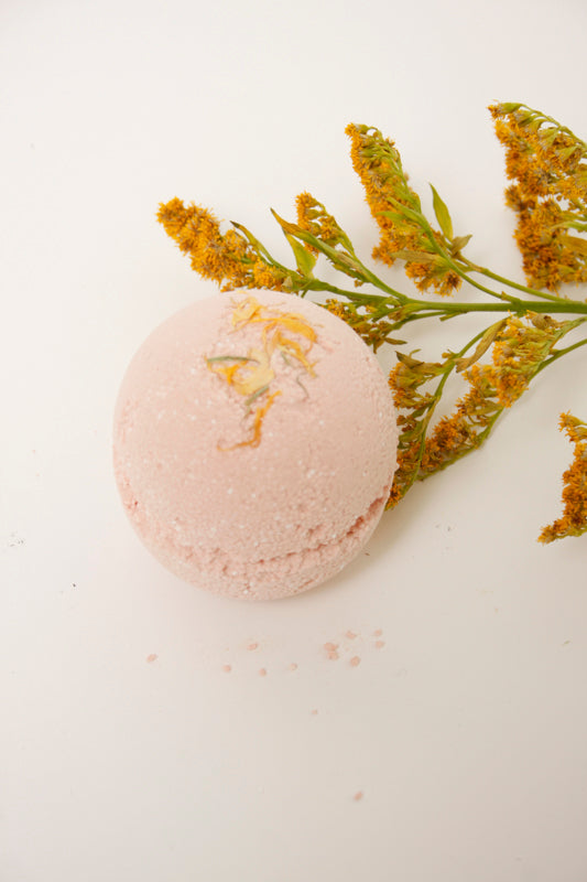 AMONG THE FLOWERS PINK GRAPEFRUIT BATH BOMB - Cloak and Dagger NYC