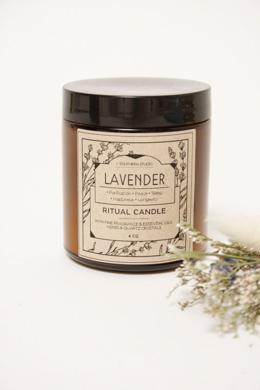 J. SOUTHERN STUDIO LAVENDER RITUAL CANDLE - Cloak and Dagger NYC