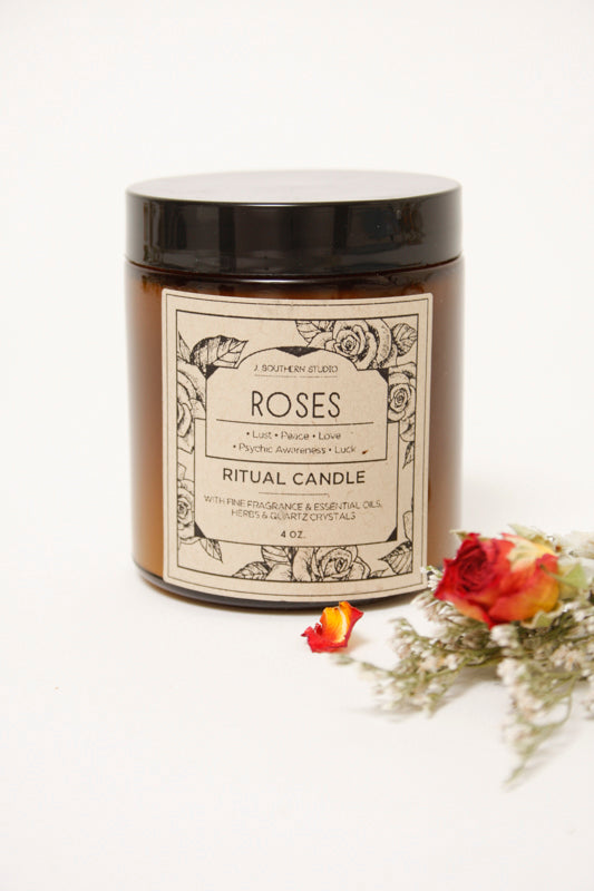 J. SOUTHERN STUDIO ROSE CANDLE 4 OZ - Cloak and Dagger NYC