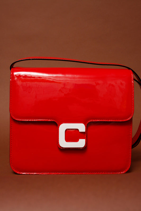 CAREL SORBONNE RED PATENT LEATHER BAG