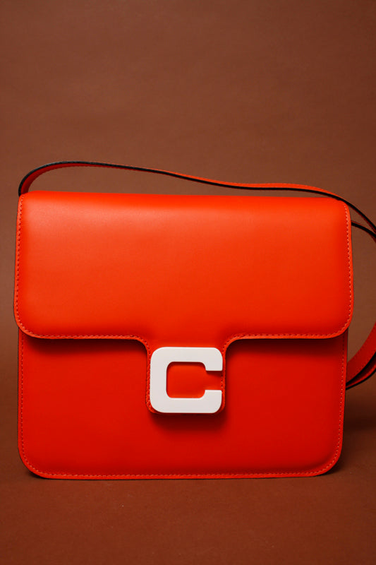 CAREL SORBONNE CALF ORANGE LEATHER BAG