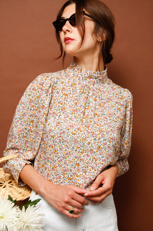 ROLLAS STEPHANIE COAST FLORAL BLOUSE