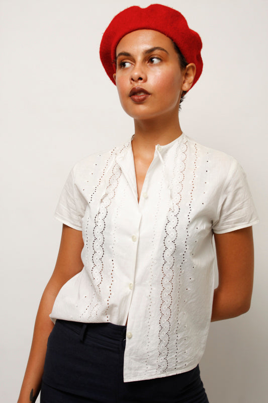 VINTAGE FRENCH COTTON TOP
