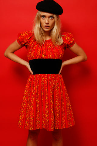 VINTAGE RED FIESTA MINI DRESS