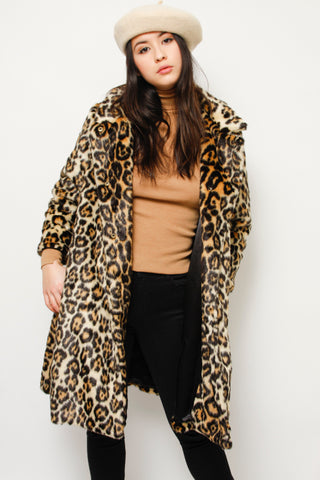 EMERSON FRY VEGAN LEOPARD COAT