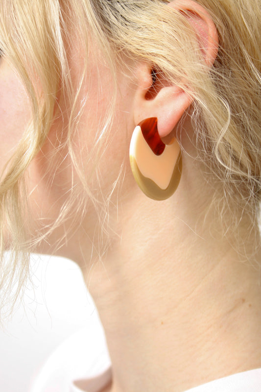 WOLL PINK HOOP EARRINGS