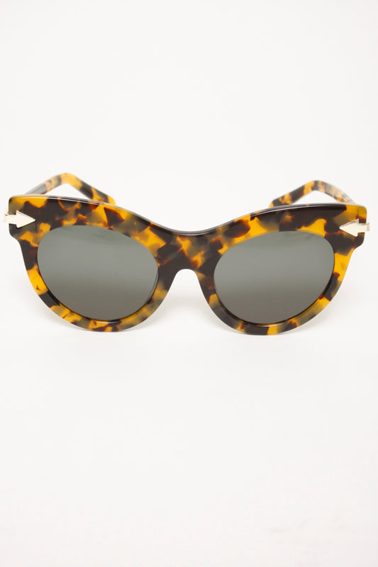 KAREN WALKER MISS LARK TORT SUNGLASSES - Cloak and Dagger NYC