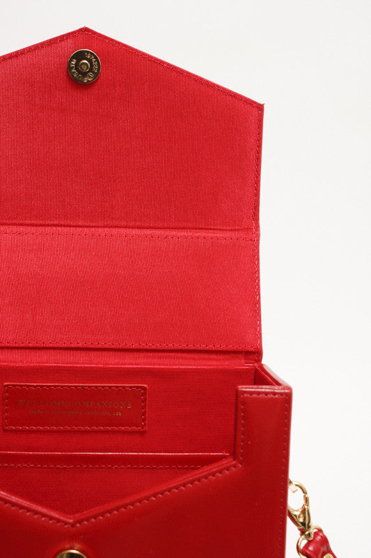 WELCOME COMPANION SQUARE ONE RED BAG - Cloak and Dagger NYC