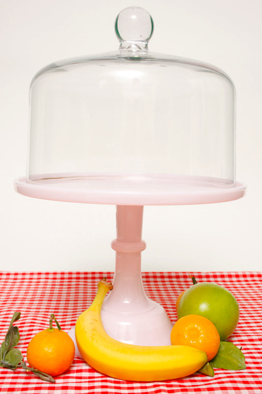 "PALE PINK 10"" CAKE PLATE - Cloak and Dagger NYC"