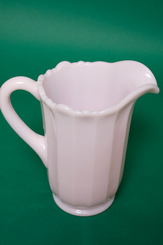 PALE PINK PANEL PITCHER
