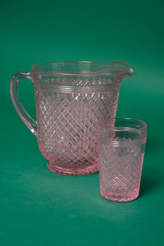 PALE PINK GLASS PITCHER - Cloak and Dagger NYC