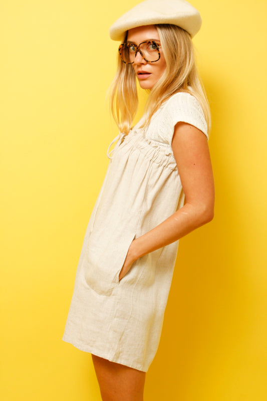 TEA LINEN HOUSE ROMPER