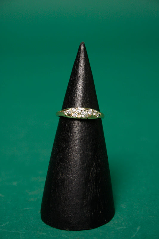 GJENMI JEWELRY COMMUNION WHITE DIAMOND RING - Cloak and Dagger NYC