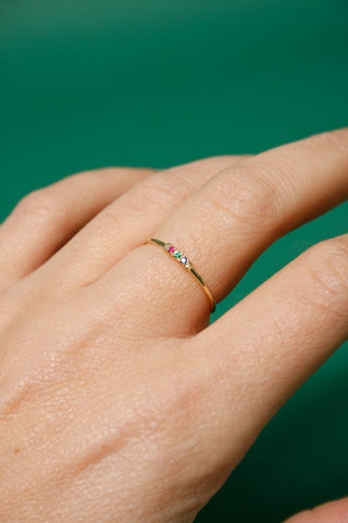 GJENMI 14K TIC TAC SUPER BLOOM RING