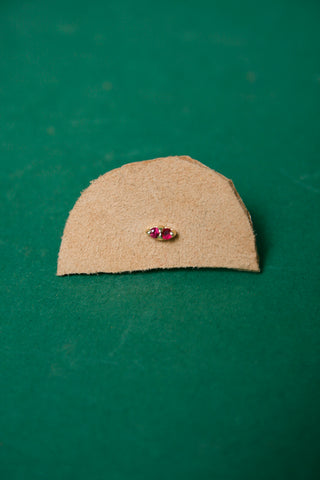 GJENMI 14K RUBY TWIN EARRING