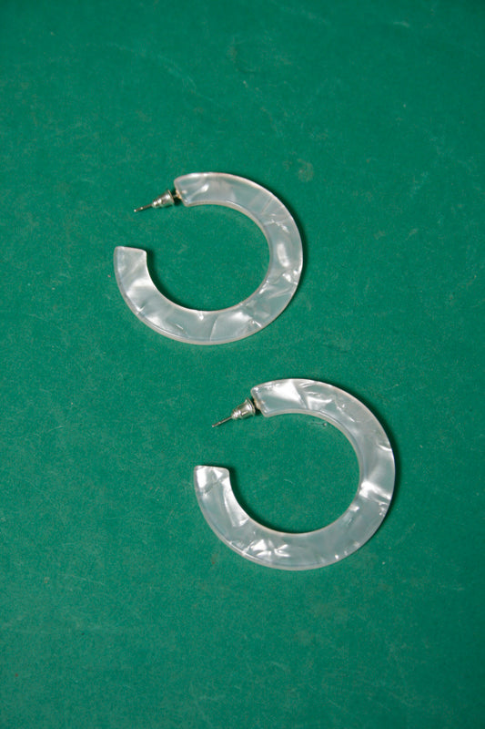 CASA CLARA ALMA SHIMMER HOOP EARRINGS