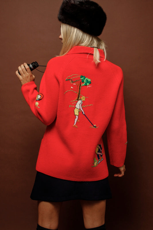 VINTAGE GOLF SCENE SWEATER