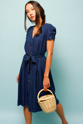 SESSUN ROSELILI BELTED MIDI DRESS