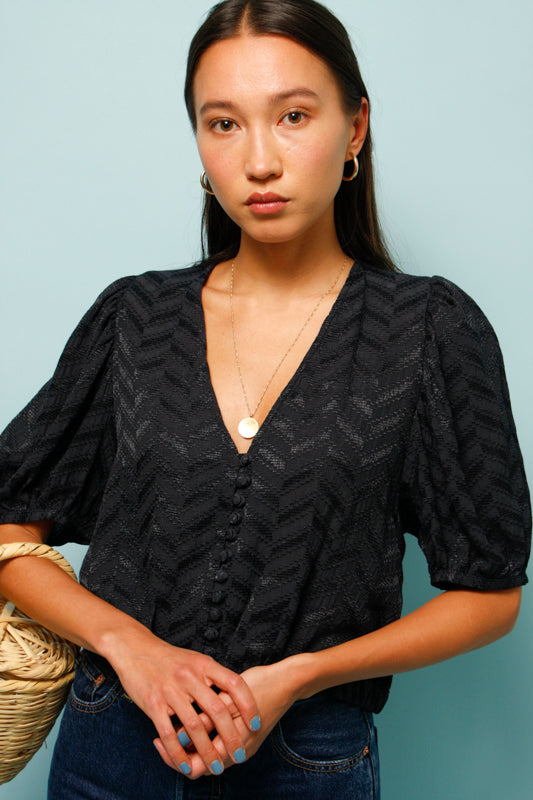 SESSUN BORROMEO SHORT SLEEVE BLOUSE