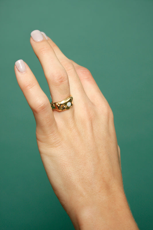 MEREWIF DEW DROP OPAL RING - Cloak and Dagger NYC