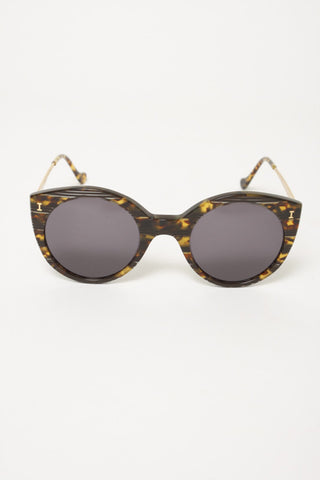ILLESTEVA PALM BEACH TORTOISE STRIPE SUNGLASSES