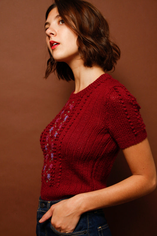 VINTAGE WOOL HAND KNIT SWEATER