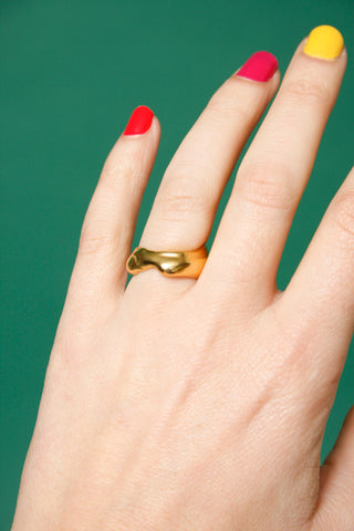 MEREWIF DROPLETTE GOLD RING