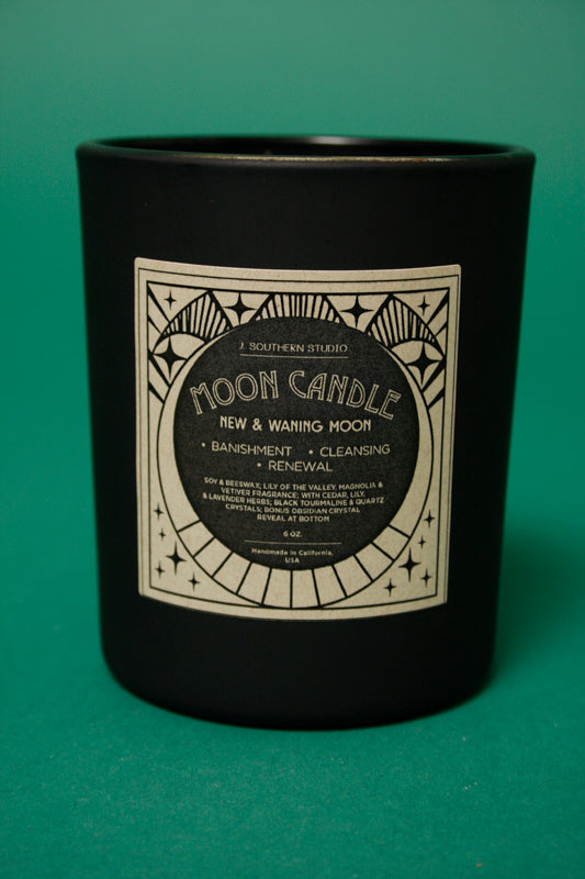 J. SOUTHERN STUDIO NEW MOON RITUAL CANDLE - Cloak and Dagger NYC