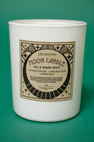 J. SOUTHERN STUDIO FULL MOON RITUAL CANDLE