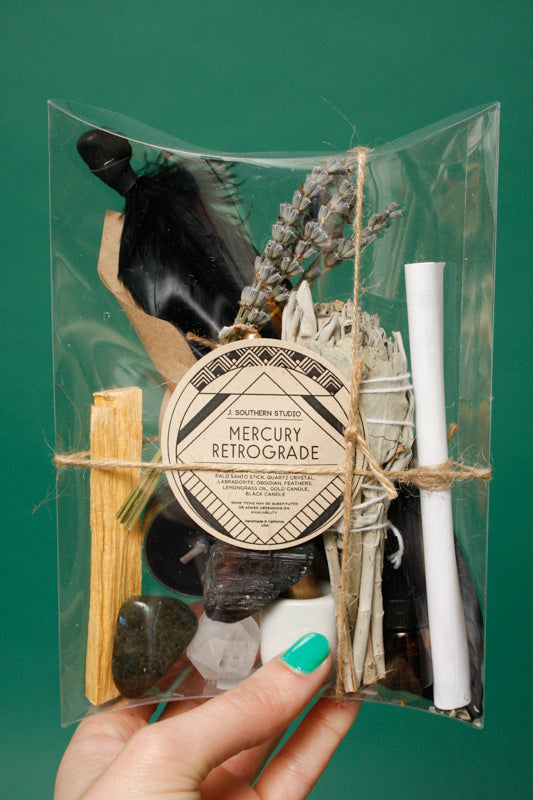 J. SOUTHERN STUDIO MERCURY RETROGRADE DELUXE RITUAL KIT - Cloak and Dagger NYC