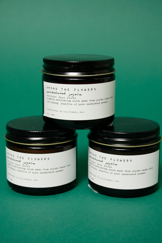 AMONG THE FLOWERS SANDALWOOD JOJOBA FACE SCRUB - Cloak and Dagger NYC