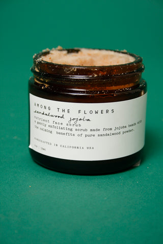AMONG THE FLOWERS SANDALWOOD JOJOBA FACE SCRUB