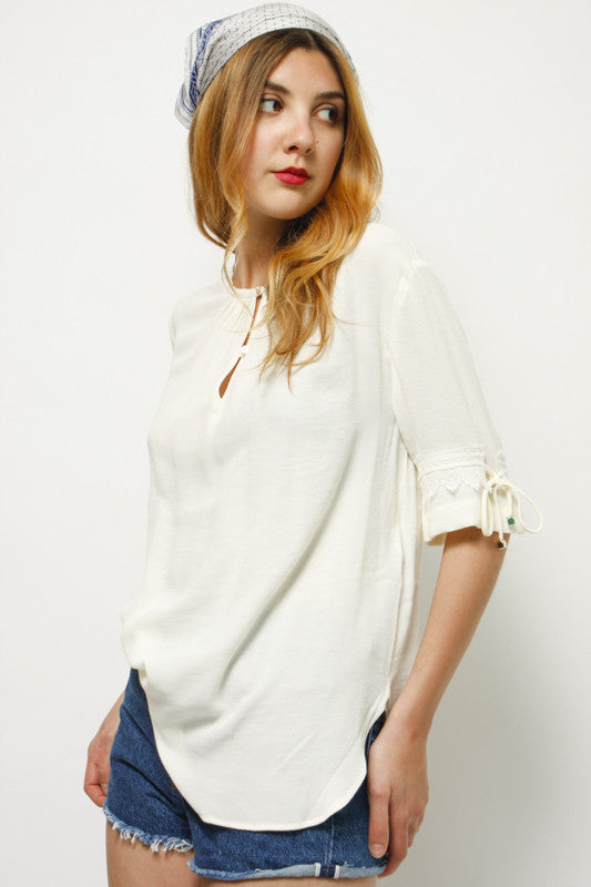 SESSUN AMMAN ROUND NECK BLOUSE